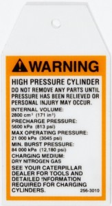 OSHA Safety Label