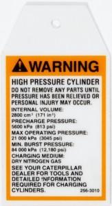 OSHA Safety Label