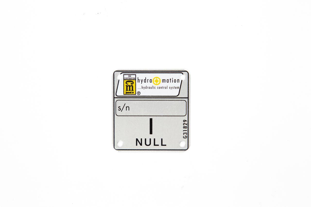 Metal Nameplate, Serial Tag