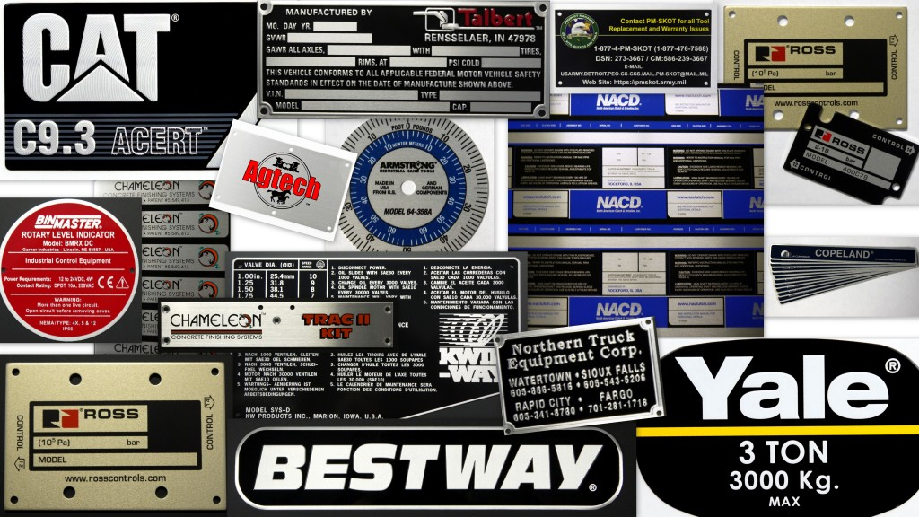 Custom Decals   Metal Nameplates