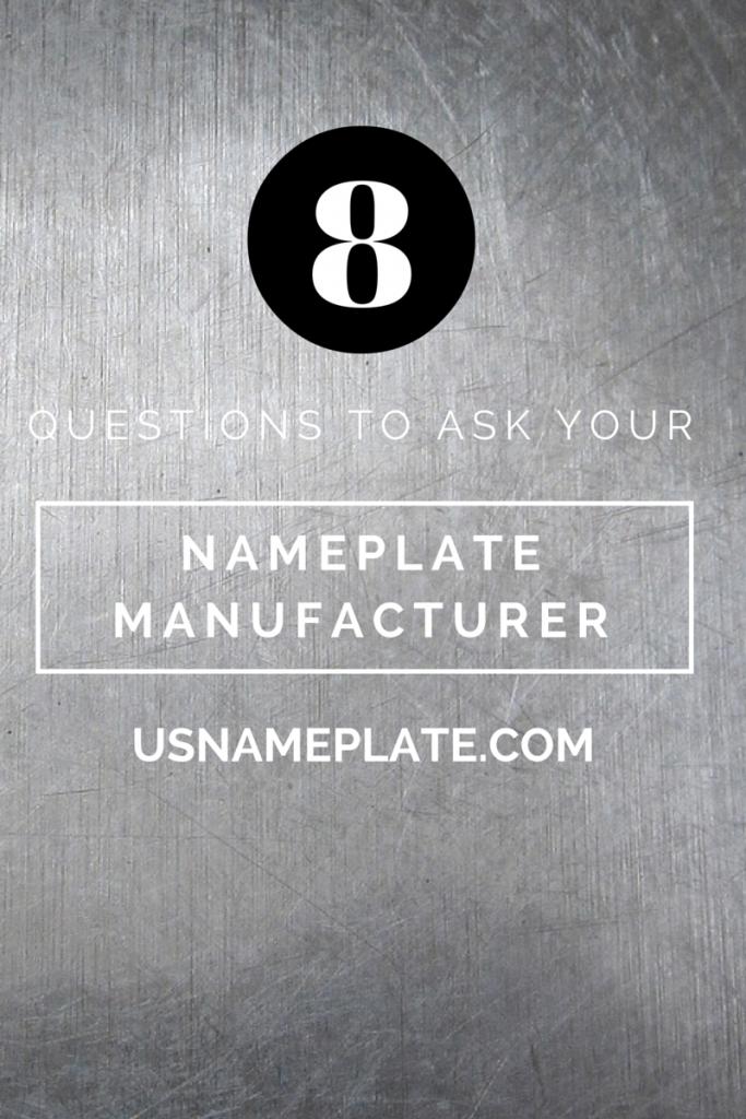 nameplate manufacturer
