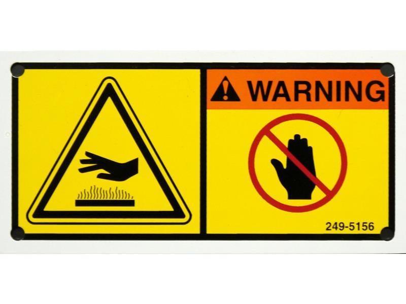 warning safety label