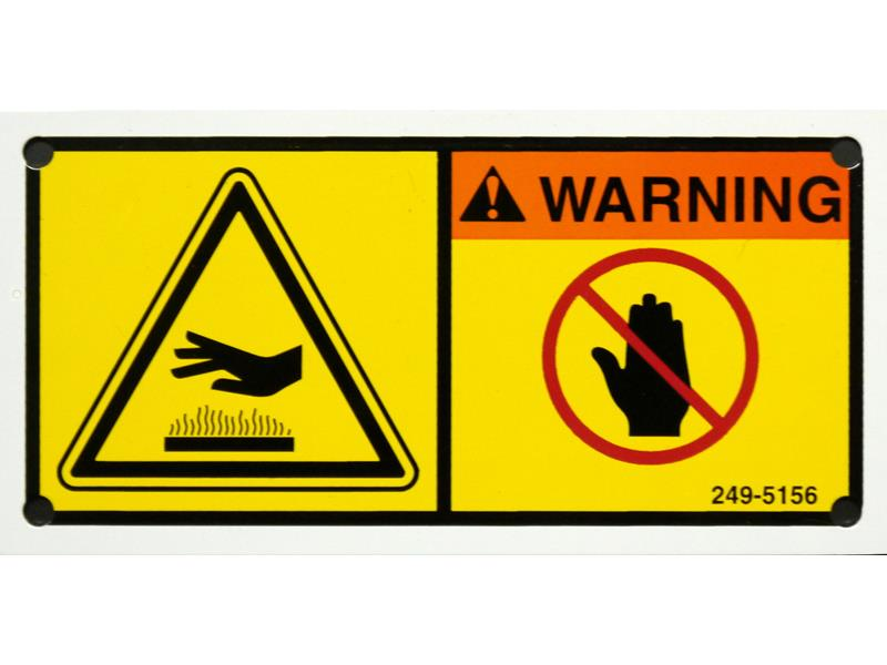 Custom Safety Labels Tags Industrial Warning Signs