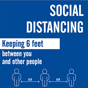 Safety Signage for social distancing